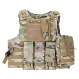 Discounted Vanker Durable Combat Assault Military Hunting Game Army Airsoft Tactical Plate Carrier Vest Forest Camouflage Intl