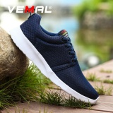 Price Compare Vemal Men And Women Mesh Running Shoes Breathable Sneakers Lace Up Free Run Sports Fitness Large Size 35 47 Blue Intl