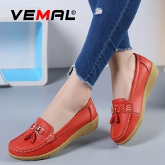 For Sale Vemal Women Leather Work Comfort Leather Moccasins Loafers Flats Slipper Mom Shoes Anti Skid Red Intl