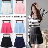 Venflon Women Korean Pleated A Line Skirt With Built In Safety Pant High Waist Mini Swing Skirts Sport Tennis Skirt Intl Shopping