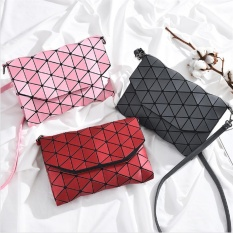 Sale Venflon Women Matte Designer Evening Bag Shoulder Bags Girls Bag Cover Flap Handbag Geometric Baobao Casual Clutch Messenger Bags Pink Intl