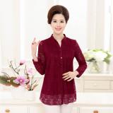Review Versatile Chiffon New Style Shirt Women Base Shirt Red Oem