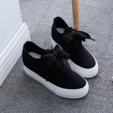 Retail Versatile Female Summer Thick Bottomed Leather Sneakers Canvas Shoes