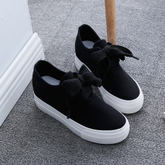 Sale Versatile Female Summer Thick Bottomed Leather Sneakers Canvas Shoes Oem Branded