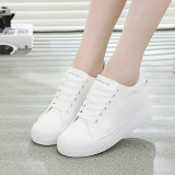 Get Cheap Versatile Female Breathable Muffin Shoes White Shoes White