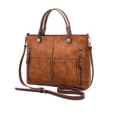 Who Sells Versatile Female New Atmosphere One Shoulder Shoulder Bag Tote Bag Light Brown Light Brown Cheap