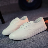 Compare Ulzzang Versatile Student Breathable Canvas Shoes Sneakers Women S Women S White Prices