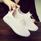 Compare Versatile Mesh Flat Travel Shoes Korean Style Sports Shoes White