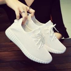 Versatile Mesh Flat Travel Shoes Korean Style Sports Shoes White Free Shipping