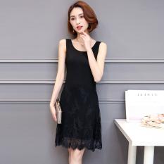 Deals For Versatile Modal Female Lace Under Tank Dress Dress Black Black
