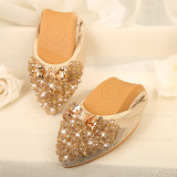 Buy Versatile Soft Black Maternity Driving Shoes Pumps Gold Gold China