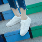 Review Women S Korean Style Casual Lacing Flat Shoes White All White All White On China