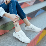Cheapest Women S Korean Style Casual Lacing Flat Shoes White Baijin Baijin