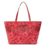 Victoria S Secret Vintage Floral Rose Print Shoulder Tote Bag Red Online