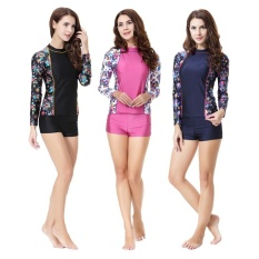 Victory 2pcs New Womens Fashion Muslim Swimwear Conservative Swimming Suit Long Sleeve+shorts(rose) - Intl By Dream Shopping Mall.