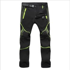Sale Victory Men And Women Sports Pants Outdoor Sport Riding Climbing Stretch Pants Quick Drying Pants Unisex(Green Line) Intl China Cheap