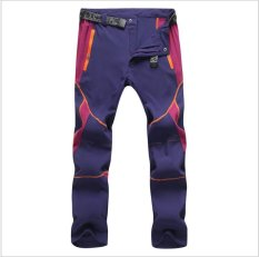 Victory Men And Women Sports Pants Outdoor Sport Riding Climbing Stretch Pants Quick Drying Pants Unisex(Purple) Intl On China