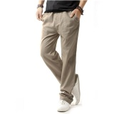 Victory Men Thin Section Breathable Loose Elastic Band Straight Pants Khaki Intl Discount Code