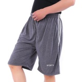 Victory Men S Leisure Movement Cotton Loose Breathable Shorts Grey Intl On Line