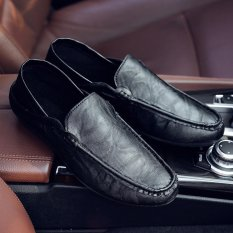 Where To Shop For Victory New Man Leisure High Quality Driving Shoes Pedal Doug Shoe(Black) Intl