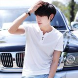Buying Victory New Men S Clothing With Short Sleeves T Shirt V Neck Pure Color Half Sleeve T Shirt (White) Intl