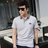 Best Offer Victory New Men S Short Sleeved Polo Shirt Cotton Men S T Shirt(Grey) Intl