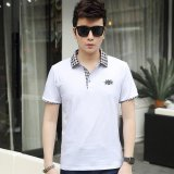 Great Deal Victory New Men S Short Sleeved Polo Shirt Cotton Men S T Shirt(White) Intl
