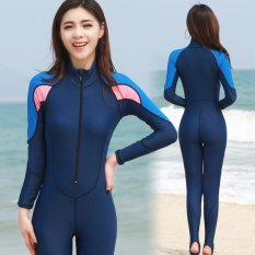 Victory Women Siamese Long Sleeve Wetsuits Surfing Suit Swimming Suit Couples Prevent Bask In Clothes Blue Intl On China