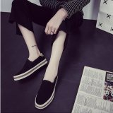 Victory Women S Fashion Flat Shoes Slip Ons Walking Casual Shoes Canvas Shoe Surface Black Intl On China