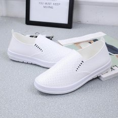 The Cheapest Victory Women S Fashion Sneakers Pu Ventilation Vamp Flat Heel Running Casual Shoes White Intl Online