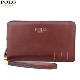 How To Buy Vicuna Polo Paul Men S Wallet Double Zipper Handbag Men S Wallet Long Section Large Capacity Intl