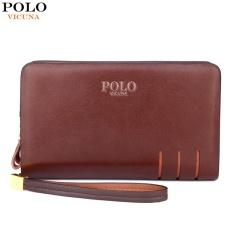 Vicuna Polo Paul Men S Wallet Double Zipper Handbag Men S Wallet Long Section Large Capacity Intl China