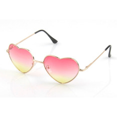 Vococal Vintage Heart Shaped Sunglasses (pink + Yellow) By Vococal Shop.