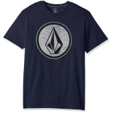 Compare Price Volcom Men S Classic Stone Short Sleeve Tee Navy Blue Intl Custom T Shirt On China