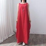 Price Vonda Pregnant Women 2018 Summer S*xy Casual Loose Leeveless Maxi Long Dress Maternity Clothings Pregnancy Female Vestidos Red Intl Vonda Original