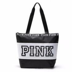 457dece8e60f VS Victoria s Secret PINK Nylon Zip Tote Bag (Black)