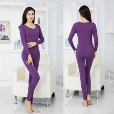 Where Can I Buy Warm Women Cashmere Cotton Sweater Female Double Seamless Thermal Underwear Suits Clothes Sets Intl