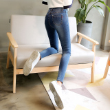 Cheap Lekuniu Women S Korean Style Stretch Slim Fit Jeans 1961 2 Dark Blue Color 1961 2 Dark Blue Color Online