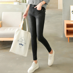 Sale Lekuniu Women S Korean Style Stretch Slim Fit Jeans 1961 4 Blue Black 1961 4 Blue Black Oem Original