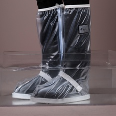 Get The Best Price For Waterproof Non Slip Motorcycle Cycling Rain Boot Rain Shoe Covers Clear Intl