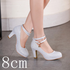 Price Women S Flat Round Toe Wedding Shoes White Color With 8Cm Standard Code White Color With 8Cm Standard Code Oem China