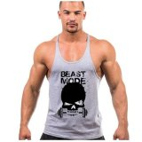 Buy Cheap Weightlifting Print Stringer Tank Top Men Bodybuilding And Fitness Vests Cotton Singlets Muscle Tops Grey