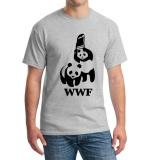 Wewanld Wwf Wrestling Panda Comedy Short Sleeve Cool Camiseta Camisetas Summer Fashion Funny Mens T Shirt Grey Intl Online