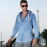 Buy All Chen Serious Style Denim Washed Slim Fit Sweatshirt Long Sleeve Shirts Oem Cheap