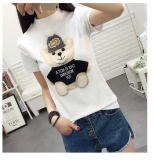 Buy White New Fashion Kawaii T Shirt Women Harajuk O Neck Top Short Sleeve Bear Print T Shirt Fashion Summer Tees For Ladies Intl Oem