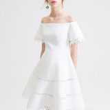 How To Buy European And American White Sugar Force Dress