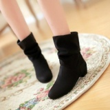 Sale Winter Fashion Martin Boots Female Knight Boots Shoes Mattesuede Boots For Women Black Selling Intl Oem Branded