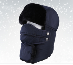 Promo Winter Hats Outdoor Windproof Thick Warm Winter Women Men Cycling Hat Ear Flaps Ski Caps Navy Intl