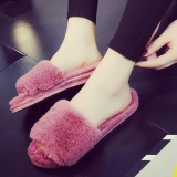 Great Deal Winter Rabbit Plush Slippers Home Indoor And Outdoor Wear Bedroom Home Furnishing Beauty Salon Female Cotton Slippers Shoes In Winter Intl