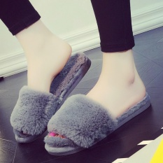 Retail Price Winter Rabbit Plush Slippers Home Indoor And Outdoor Wear Bedroom Home Furnishing Beauty Salon Female Cotton Slippers Shoes In Winter Intl